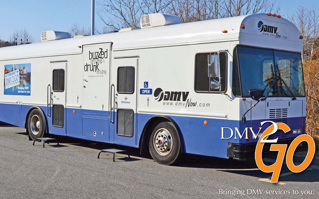 DMV 2 Go - LOCATION CHANGE: Will be inside the library today (bus is out of service)