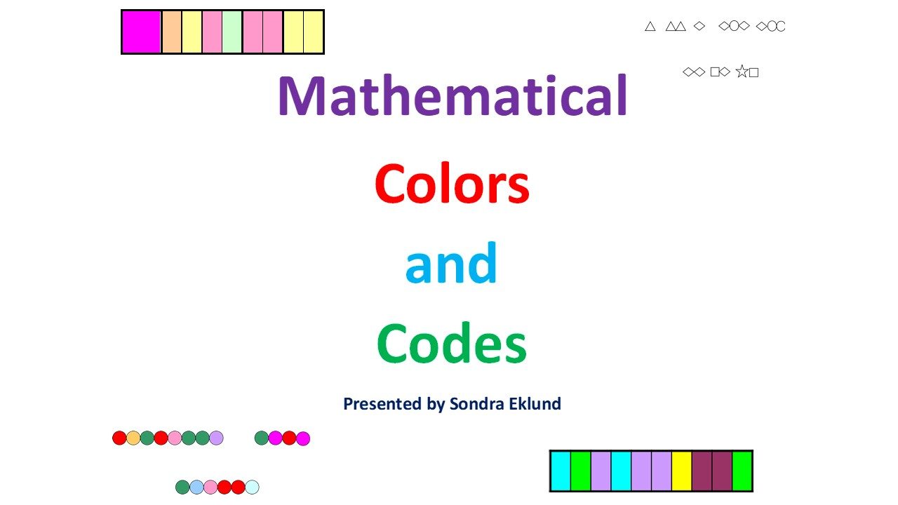 Mathematical Colors and Codes, Episode Four (Video on Demand)