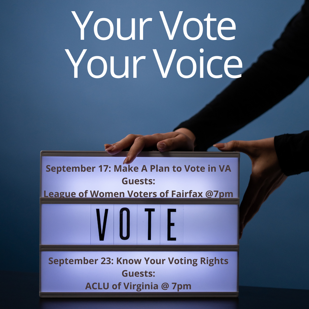 Your Vote, Your Voice: Make a Plan to Vote with the League of Women Voters of the Fairfax Area