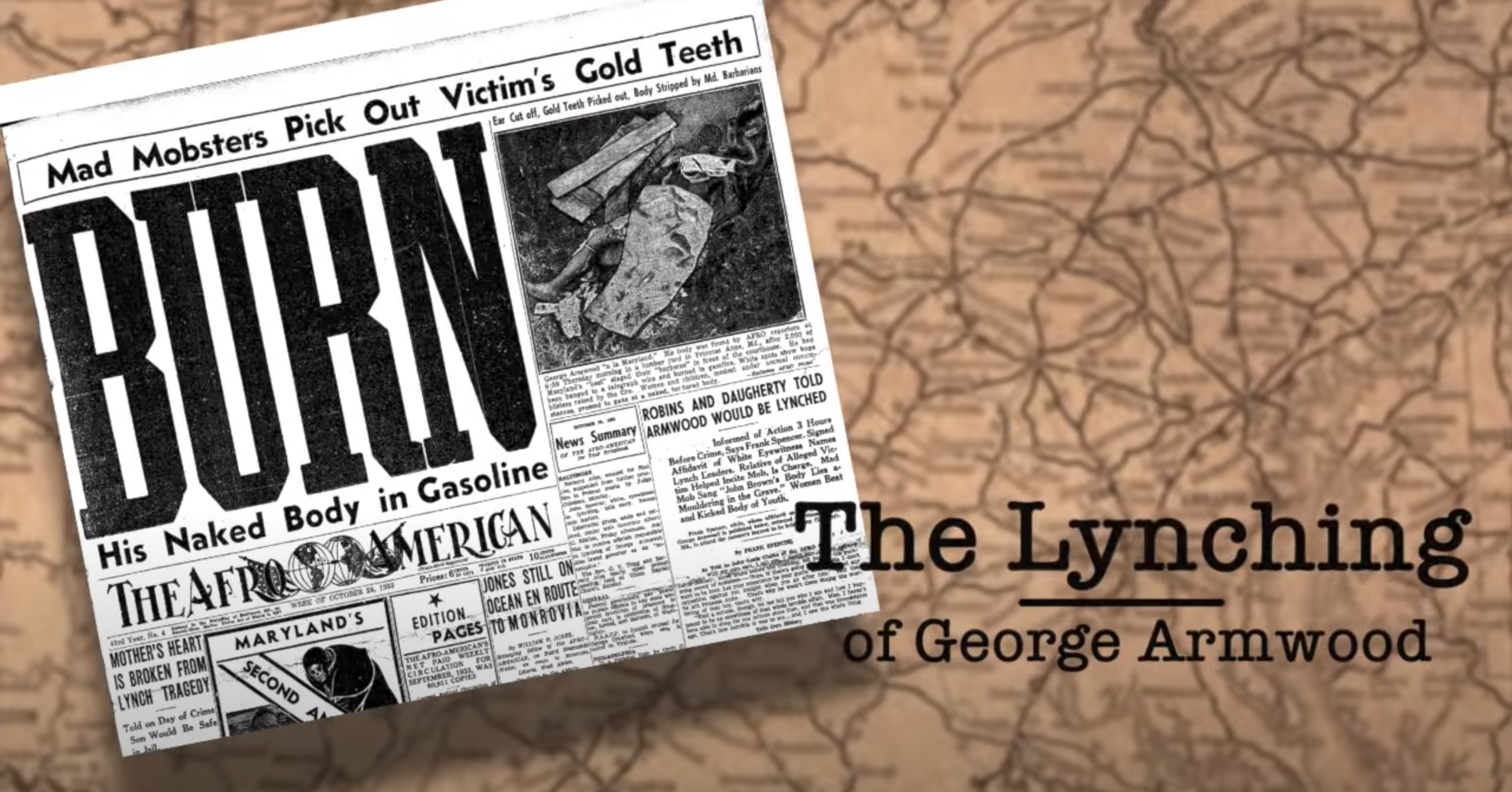 "Documentary Film ""Burn: The Lynching of George Armwood"" - Screening/Discussion/Q&A"
