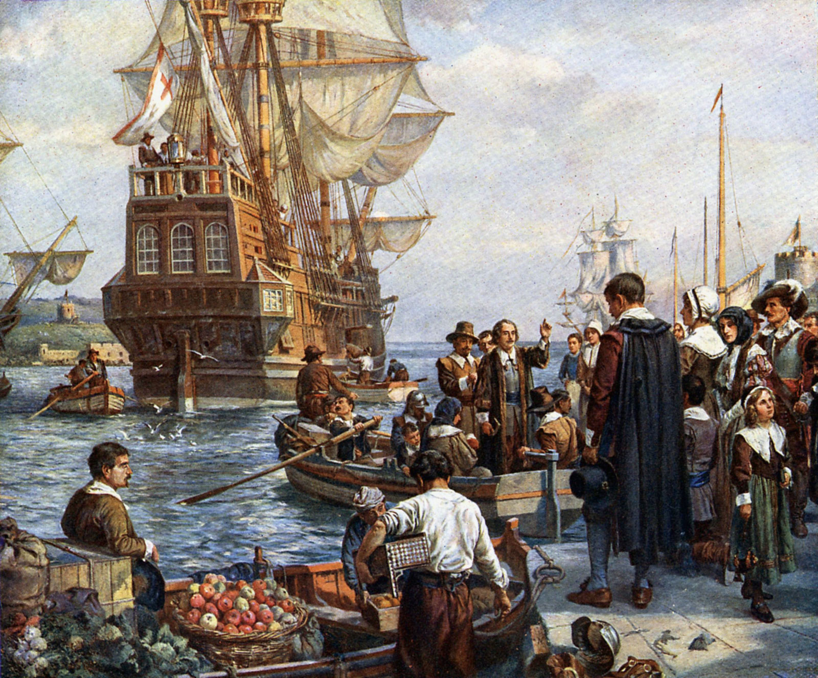 Mayflower & Early New England  Immigration Timeline