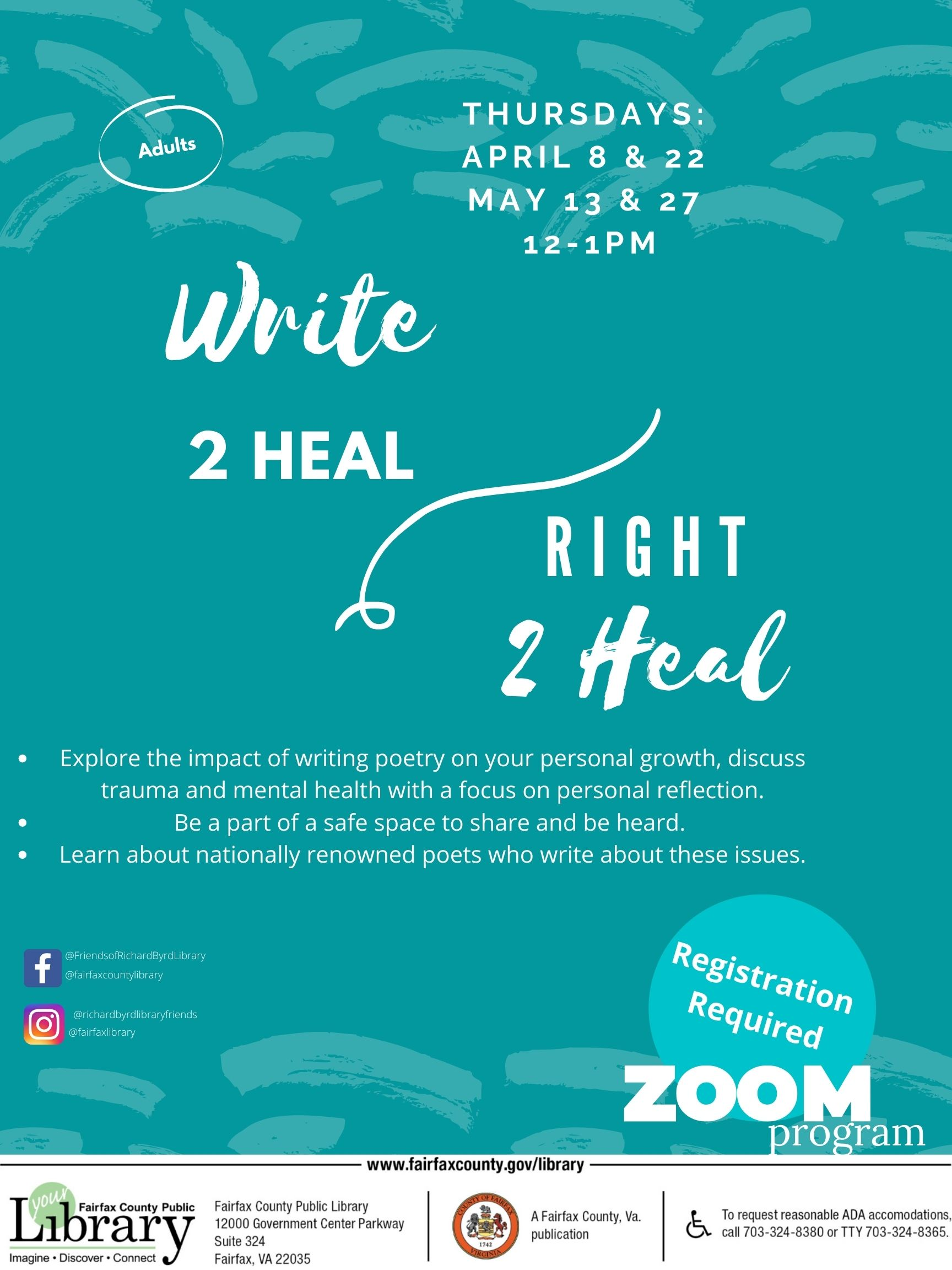Session Cancelled- Write 2heal / Right 2heal
