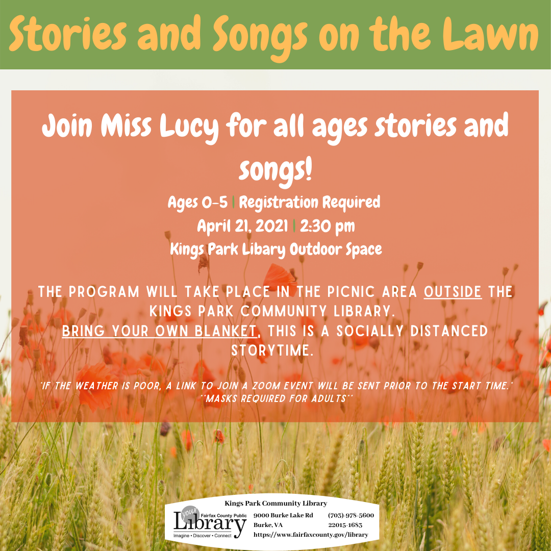 Stories and Songs on the Lawn: an Outdoors Storytime