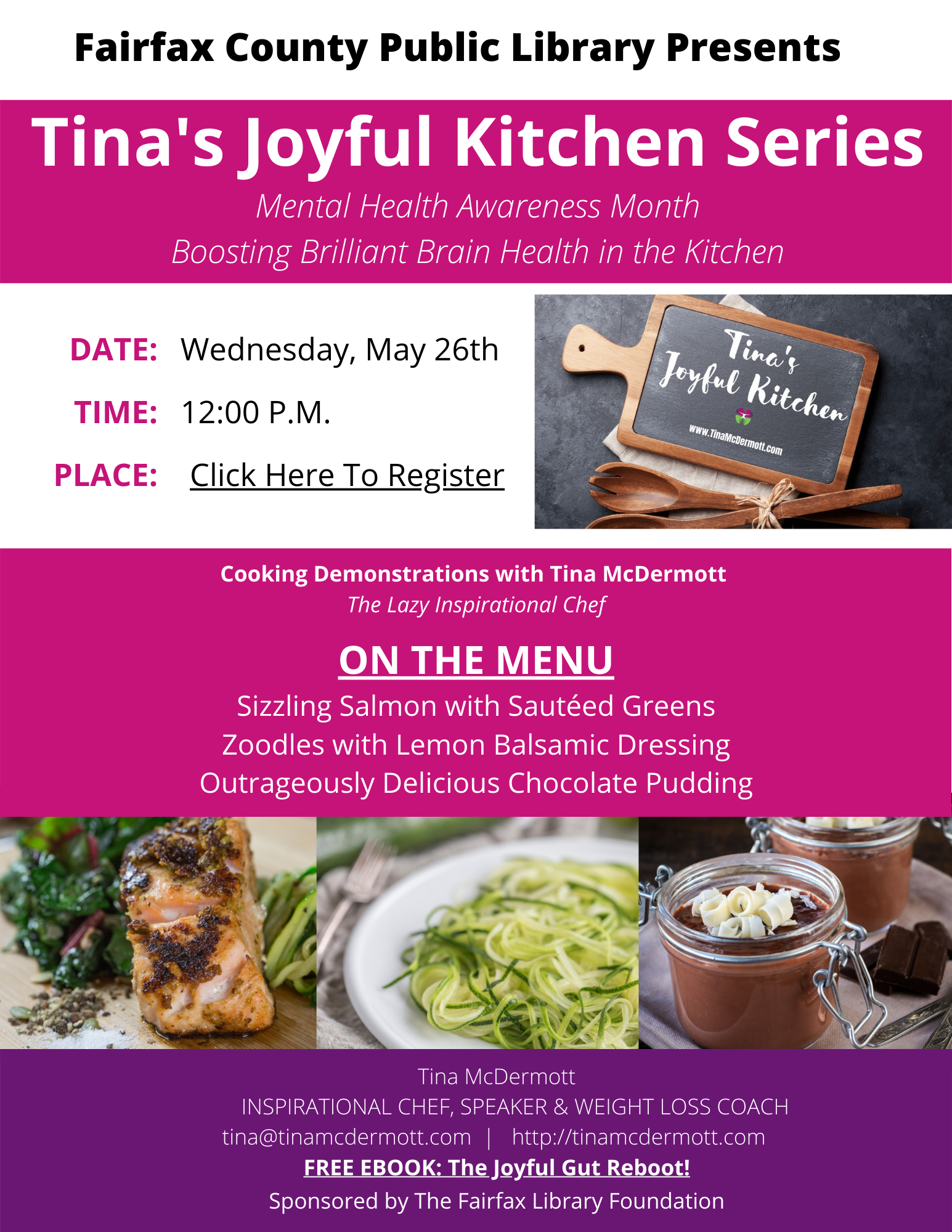 Tina's Joyous Kitchen series: Mental Health Awareness Month