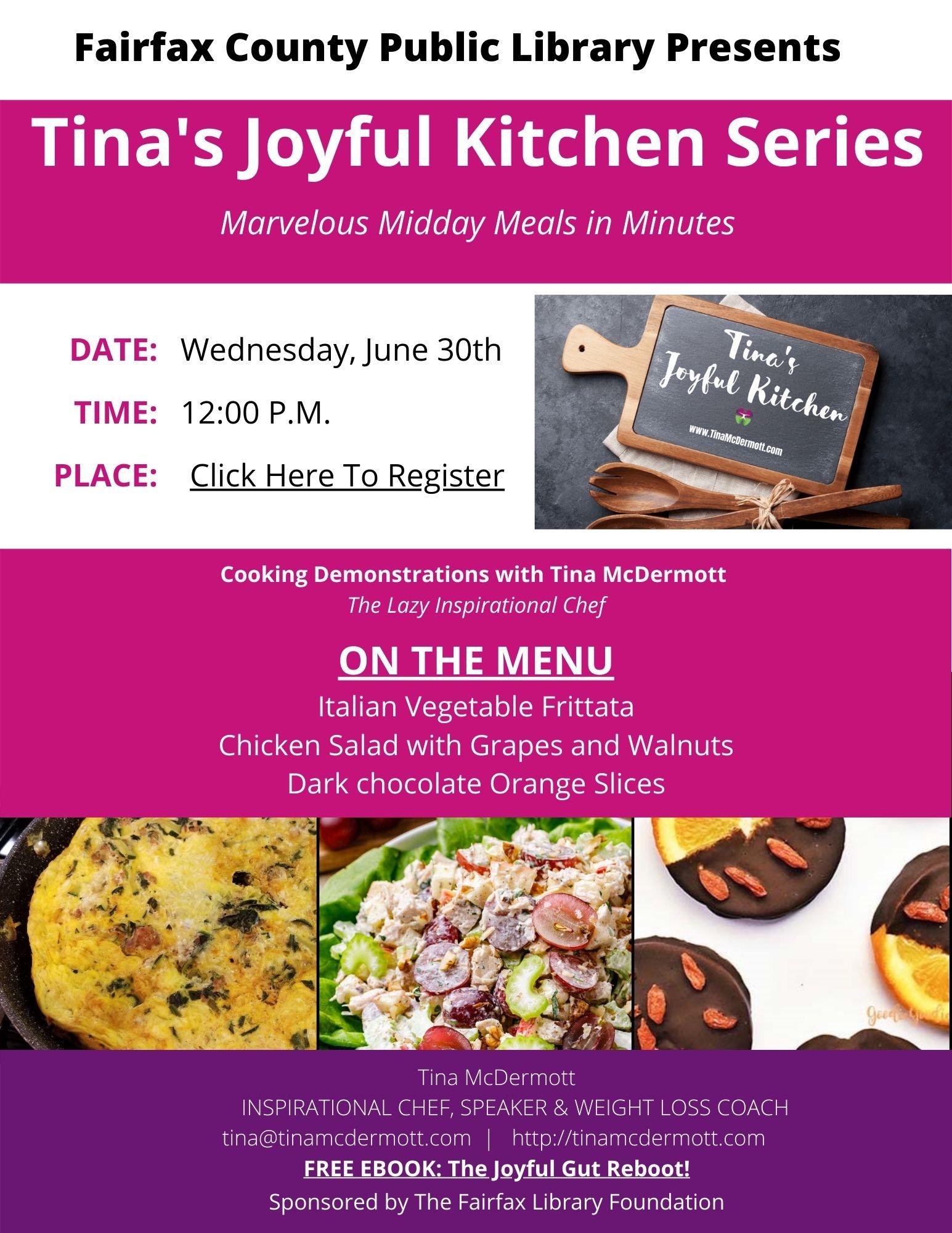 Tina's Joyful Kitchen series: Professional Wellness Month