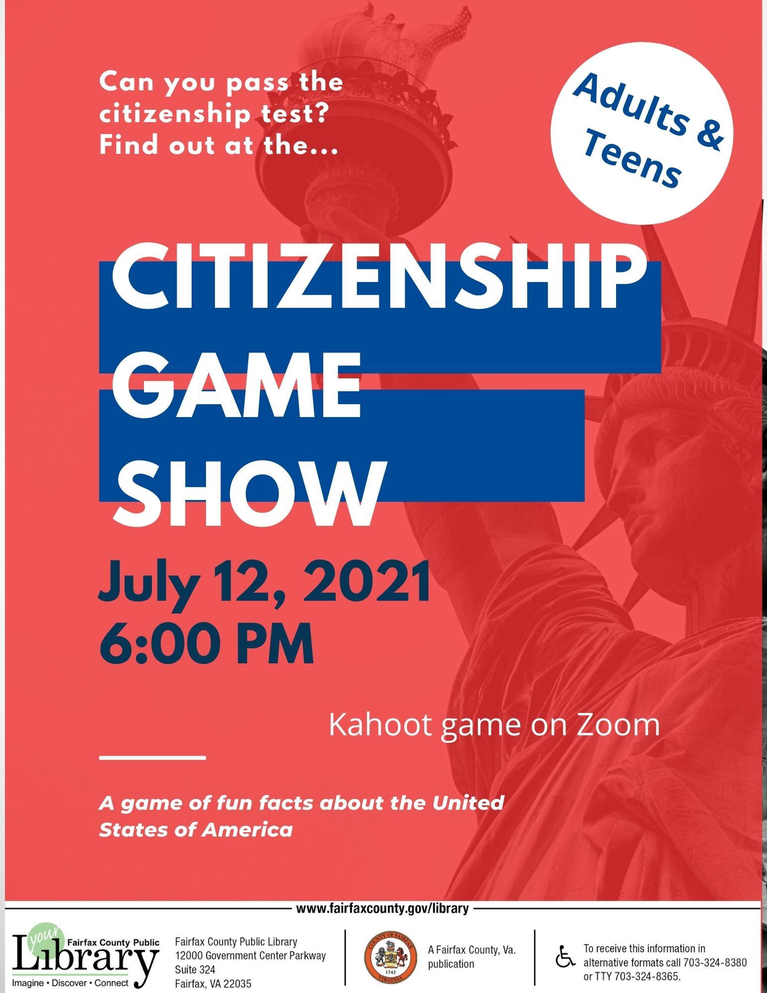 Citizenship Game Show!