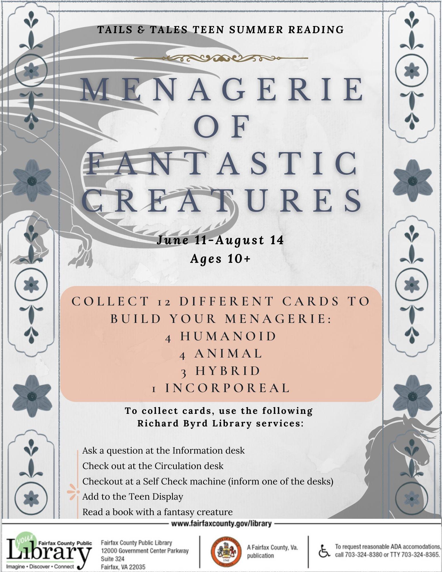 Menagerie of Fantastic Creatures for Teens & Tweens