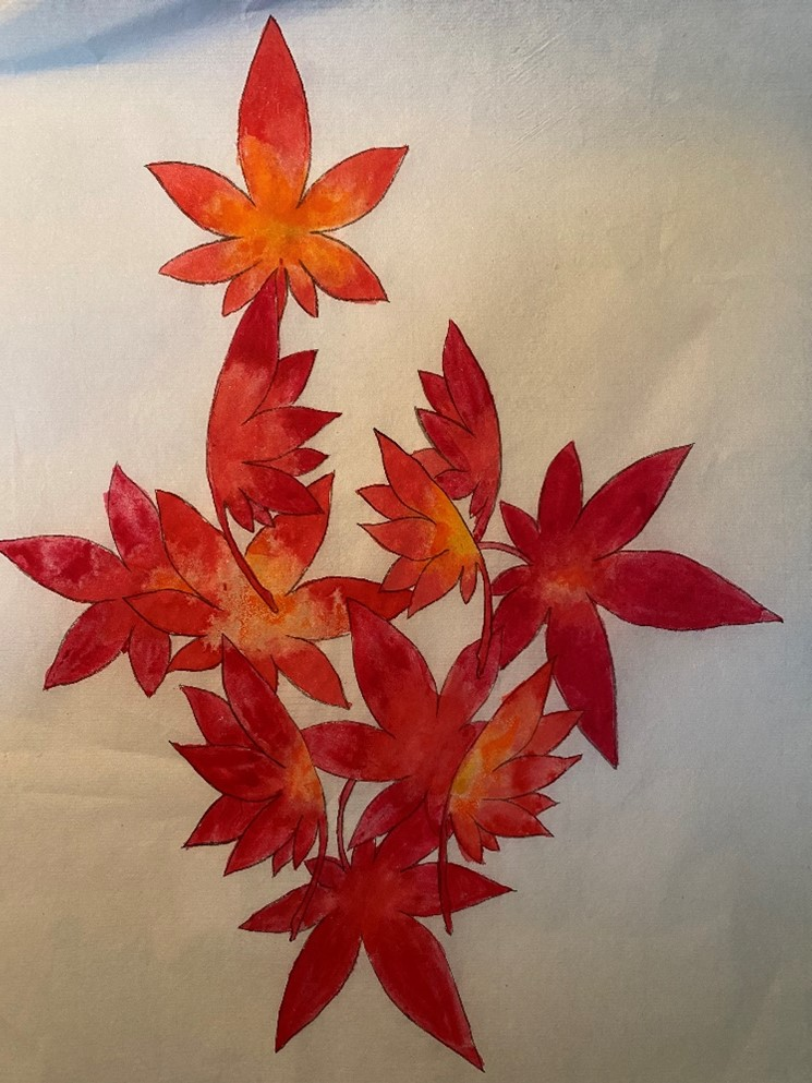 Art in the Library: Japanese Maple Leaves