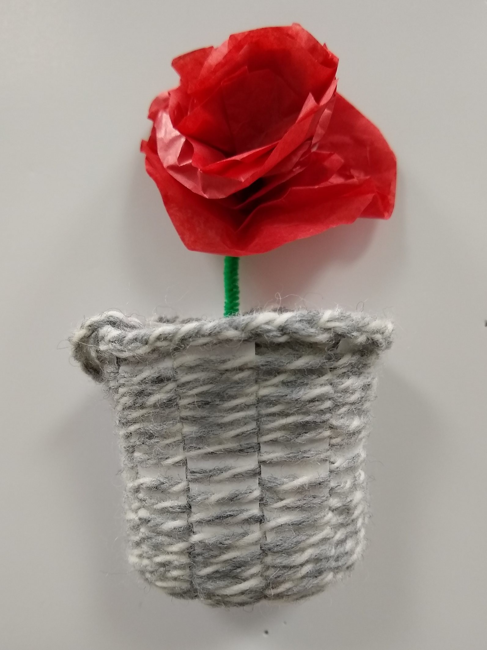 Intergenerational Paper Cup Flower Vase
