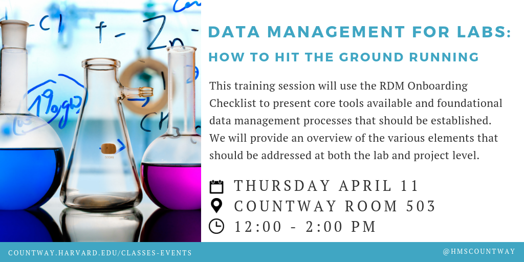 Data Management for Labs: How to Hit the Ground Running