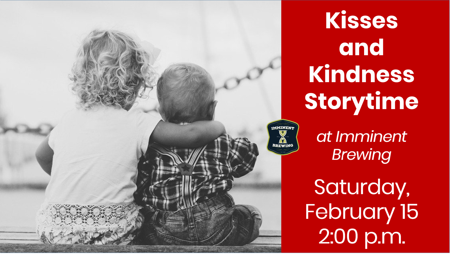 Kisses & Kindness Storytime at Imminent Brewing