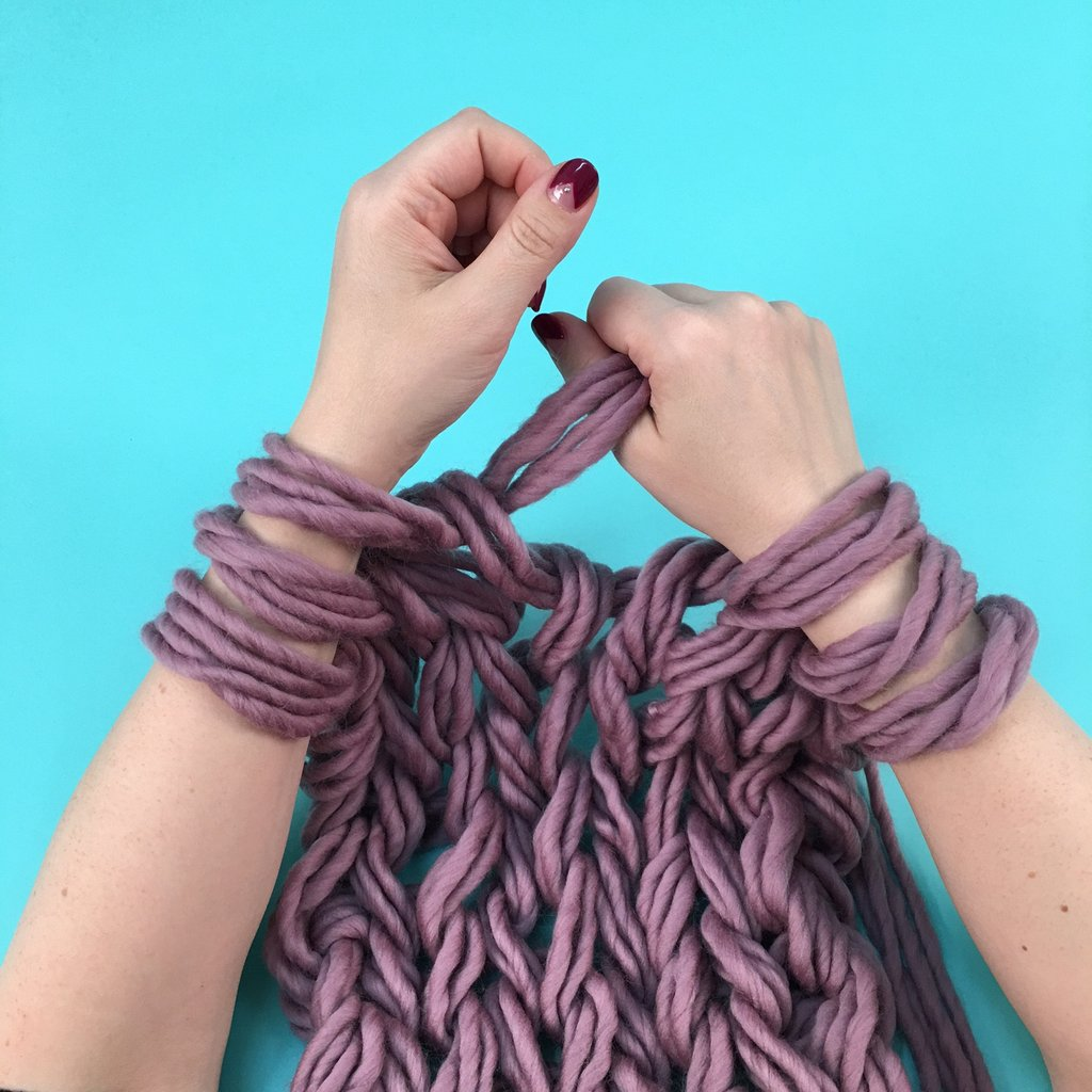Arm Knitting For Teens