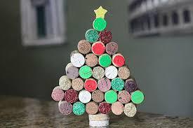 Adult Christmas Craft  -- Mini Cork Christmas Trees