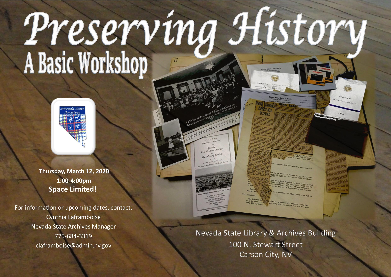Preserving History-A Basic Workshop