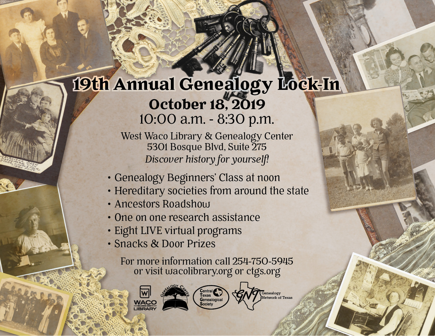 19th Annual Genealogy Lock-in
