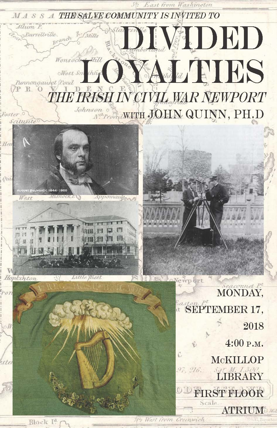 Faculty Lecture Series: Divided Loyalties The Irish in Civil War Newport with John Quinn, Ph.D