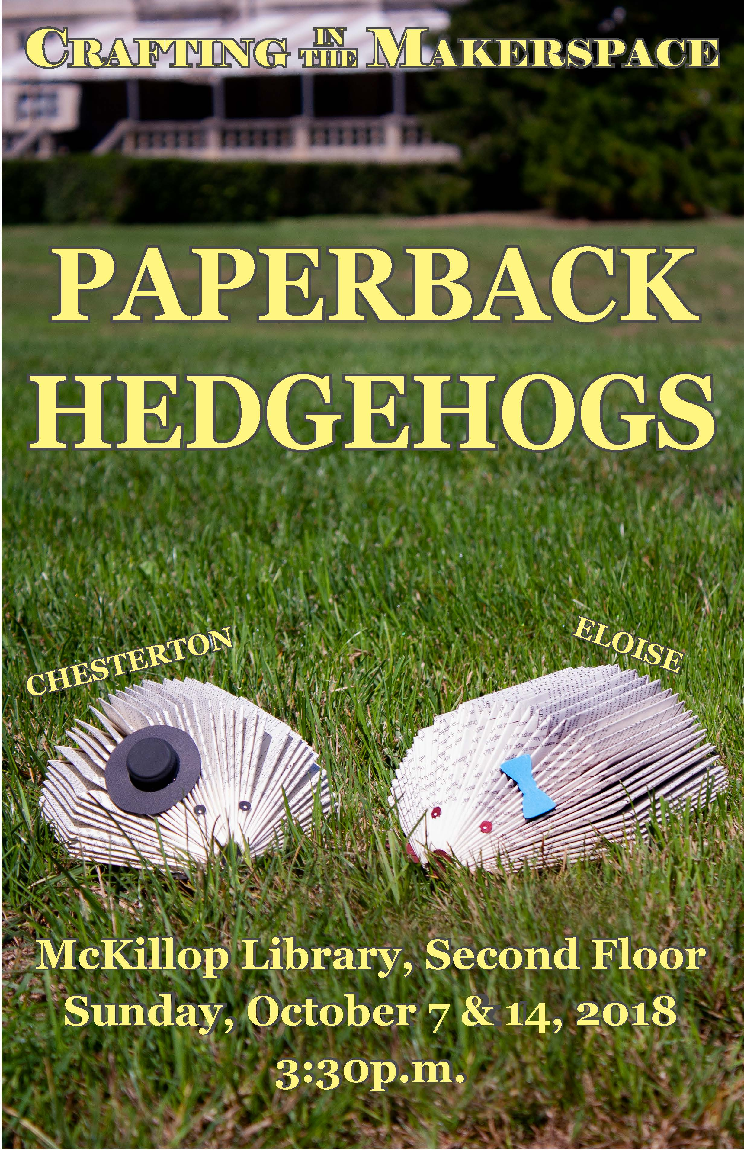 Crafting in the Makerspace: Book Hedgehogs