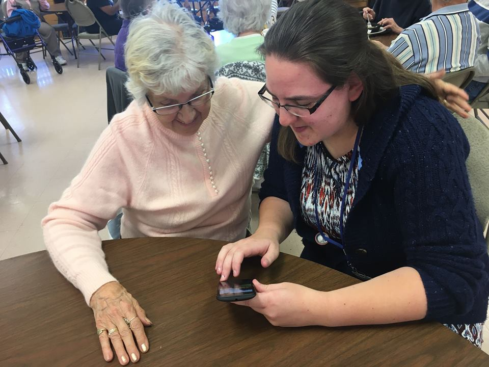 Technology Assistance at Senior Center