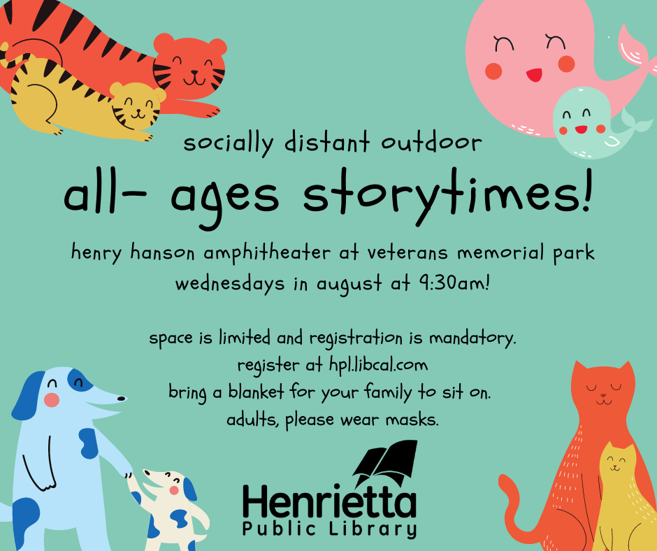 Outdoor All-Ages Storytime at the Henry Hanson Amphitheater!