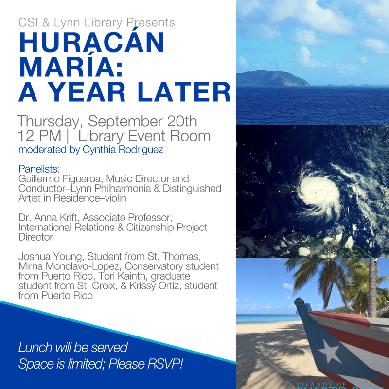 Huracan Maria: A Year Later, A Panel Discussion