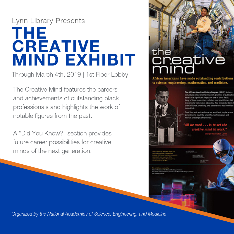 The Creative Mind Exhibit through March 4, 2019