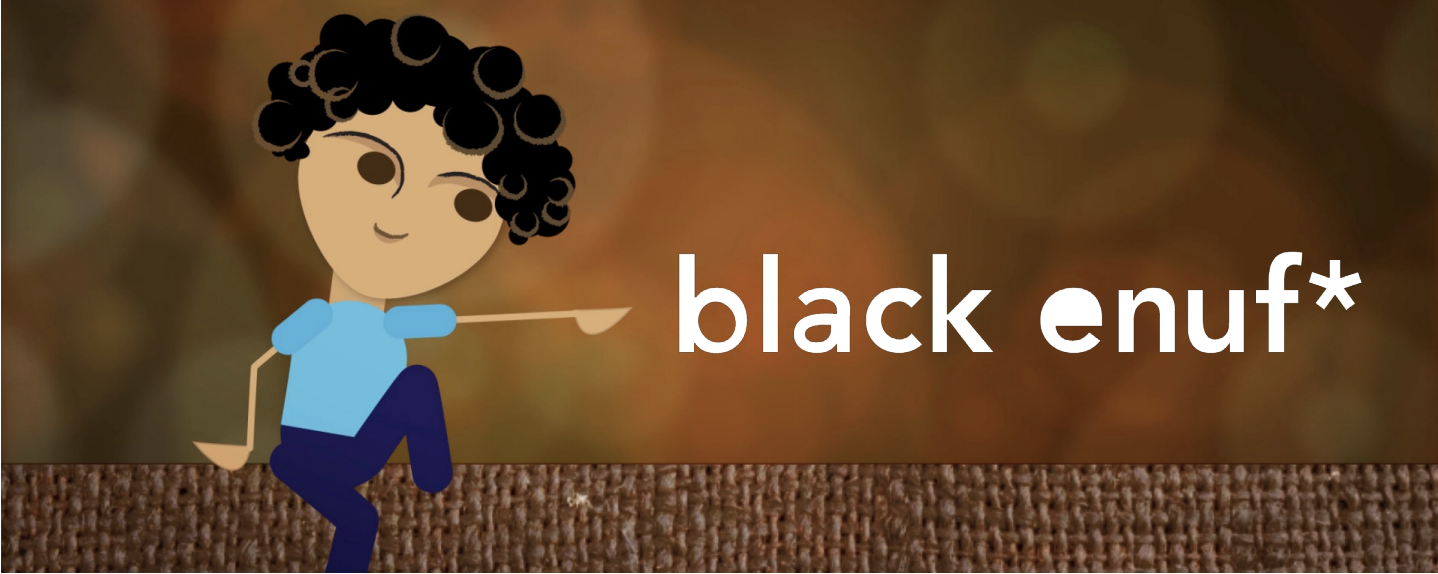 "Books, Bites, and Bias - Screening of animated film ""Black enuf"" by Carrie Hawk"