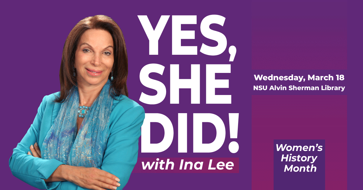 POSTPONED  Yes, She Did! Featuring: Ina Lee