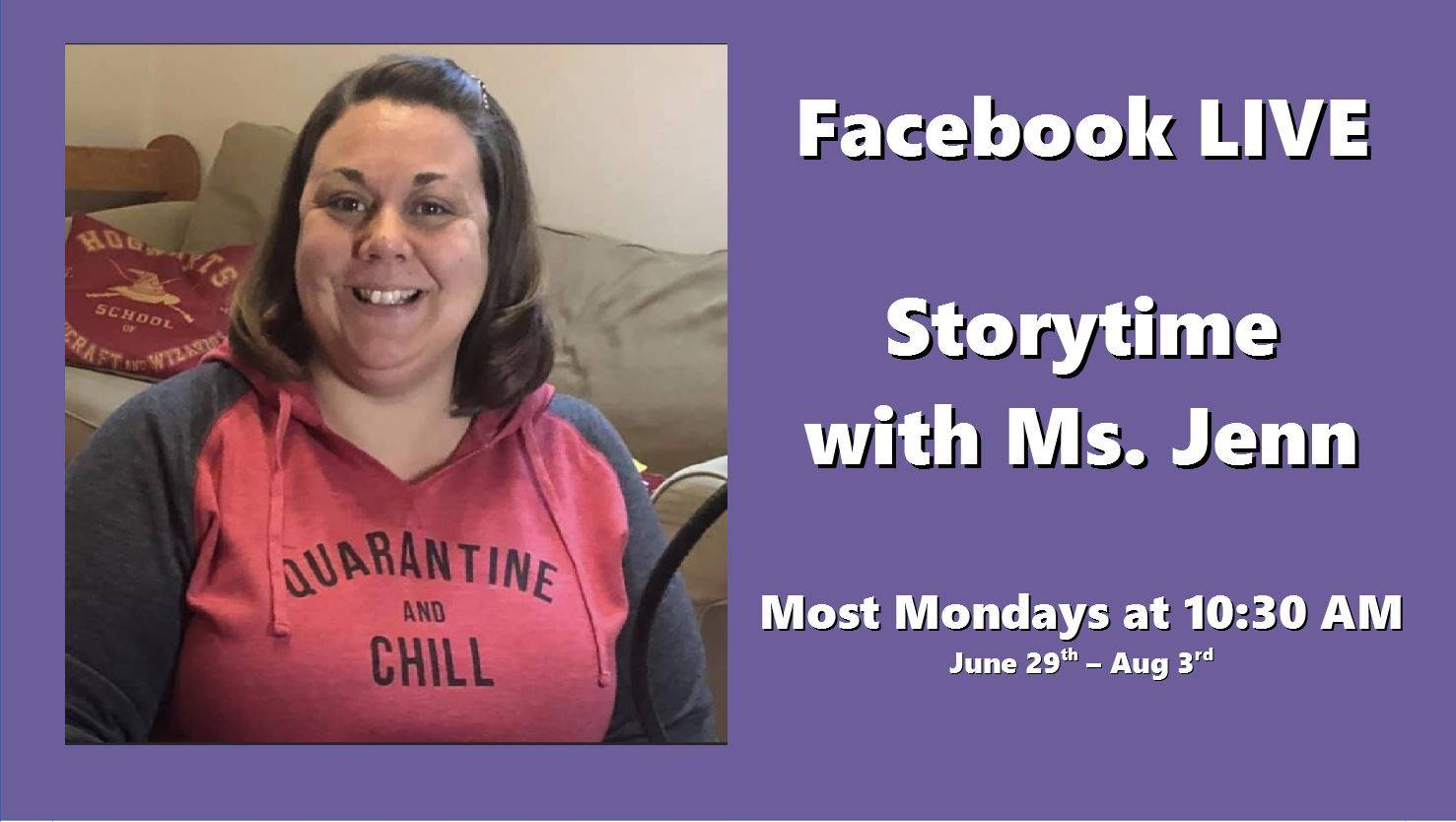 Facebook LIVE Storytime with Ms Jenn