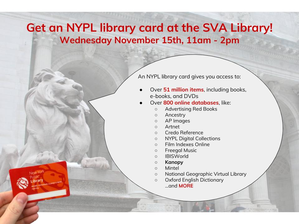 Get an NYPL Library Card