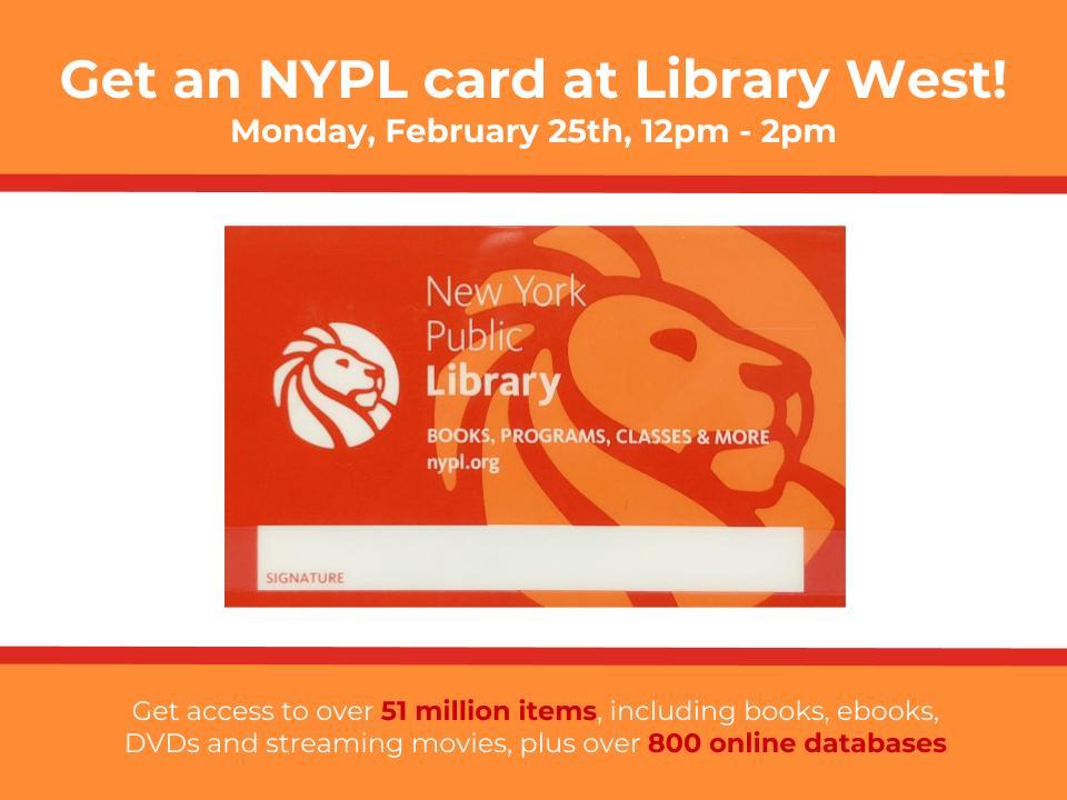 NYPL Card Sign-up