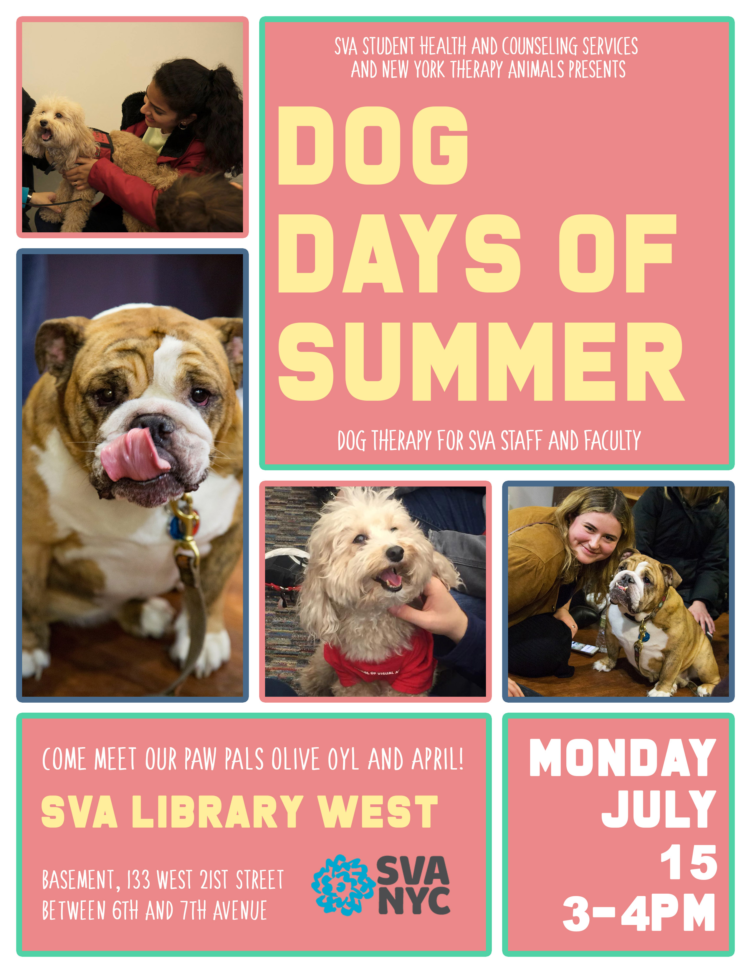 Dog Days: Dog Therapy for SVA Faculty & Staff