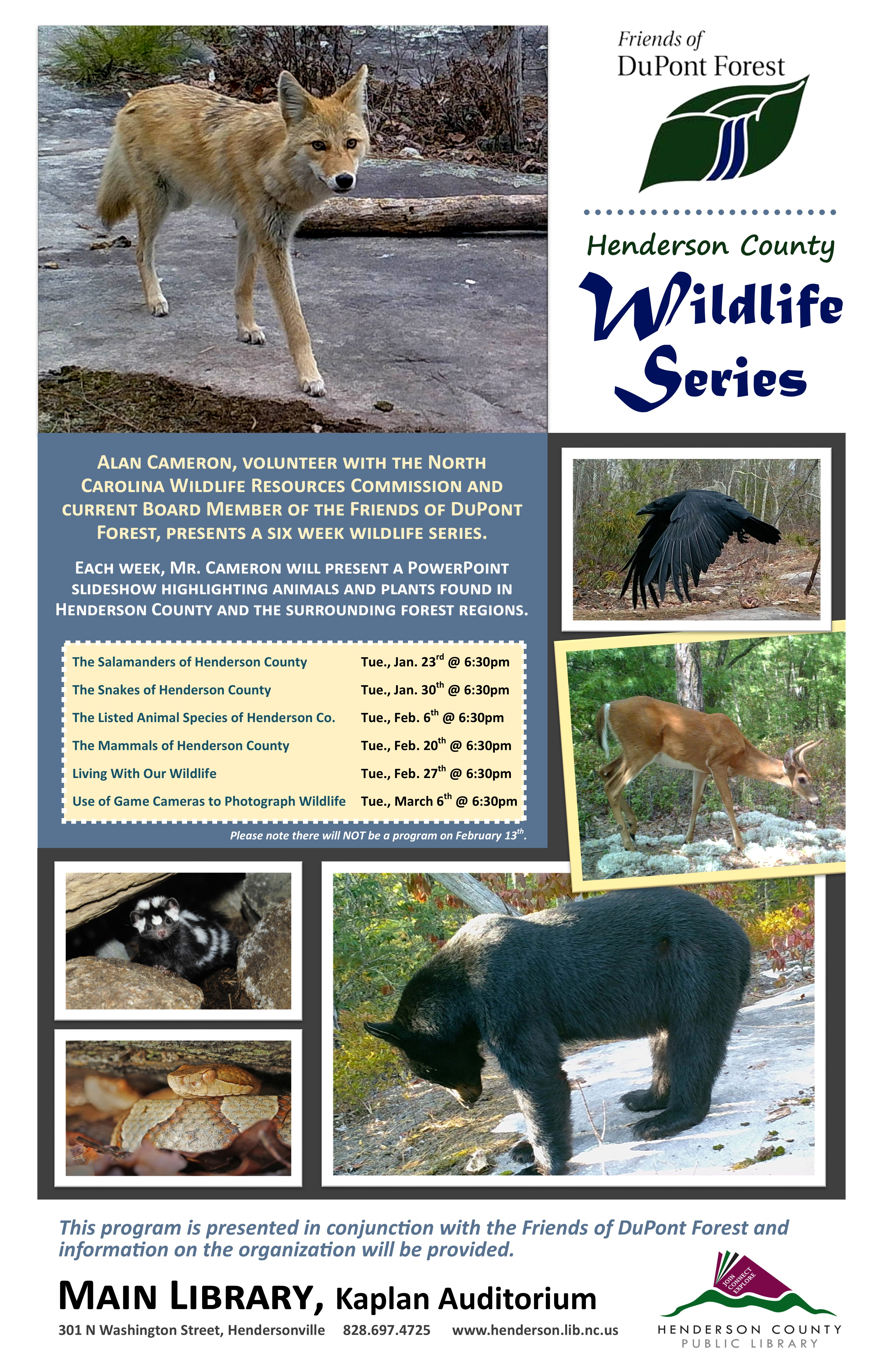 Henderson County Wildlife Series:  The Mammals of Henderson County
