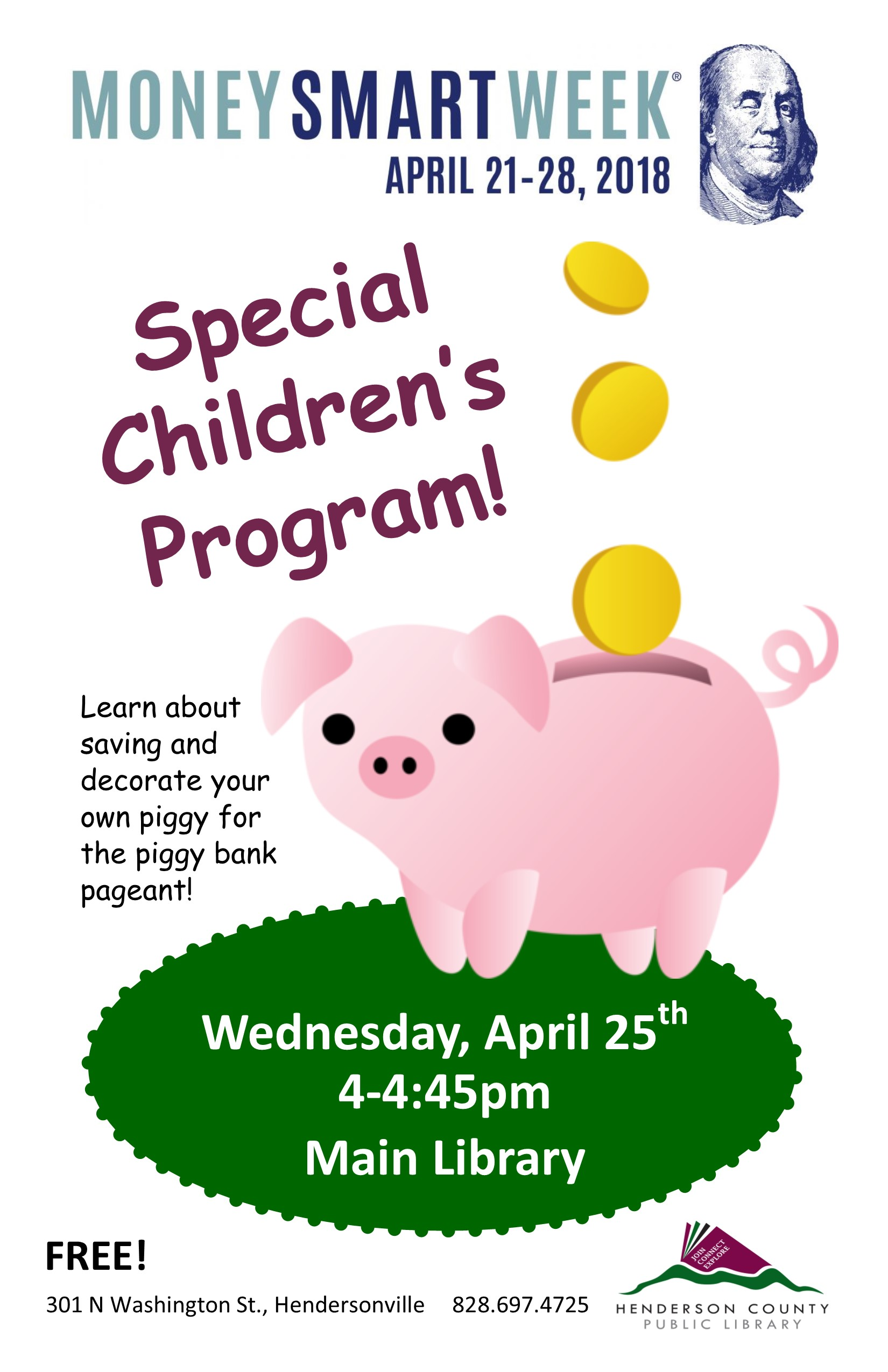 Main Library 4 O'Clock Club- Money Smart Week
