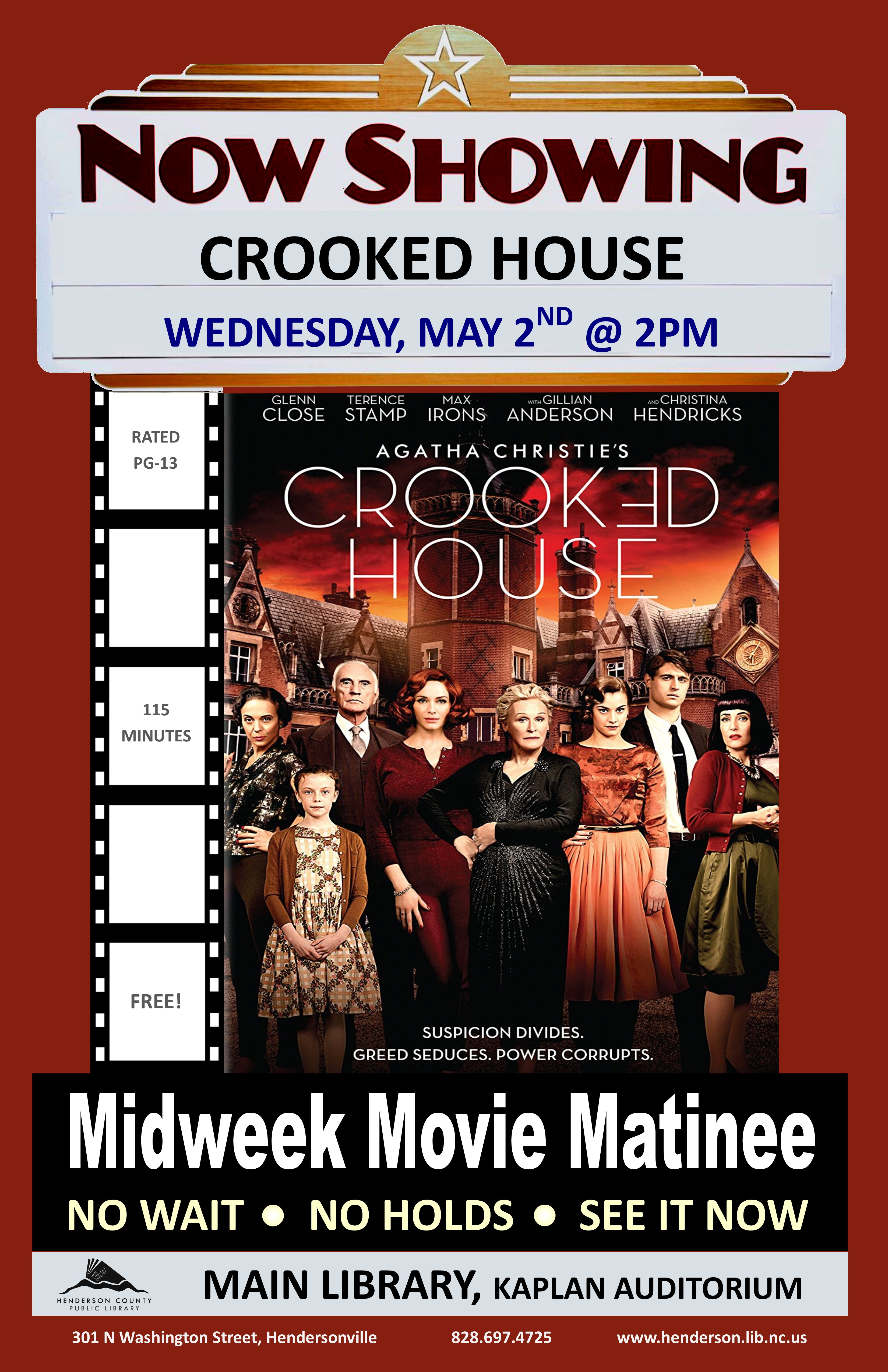 Midweek Matinee- Crooked House