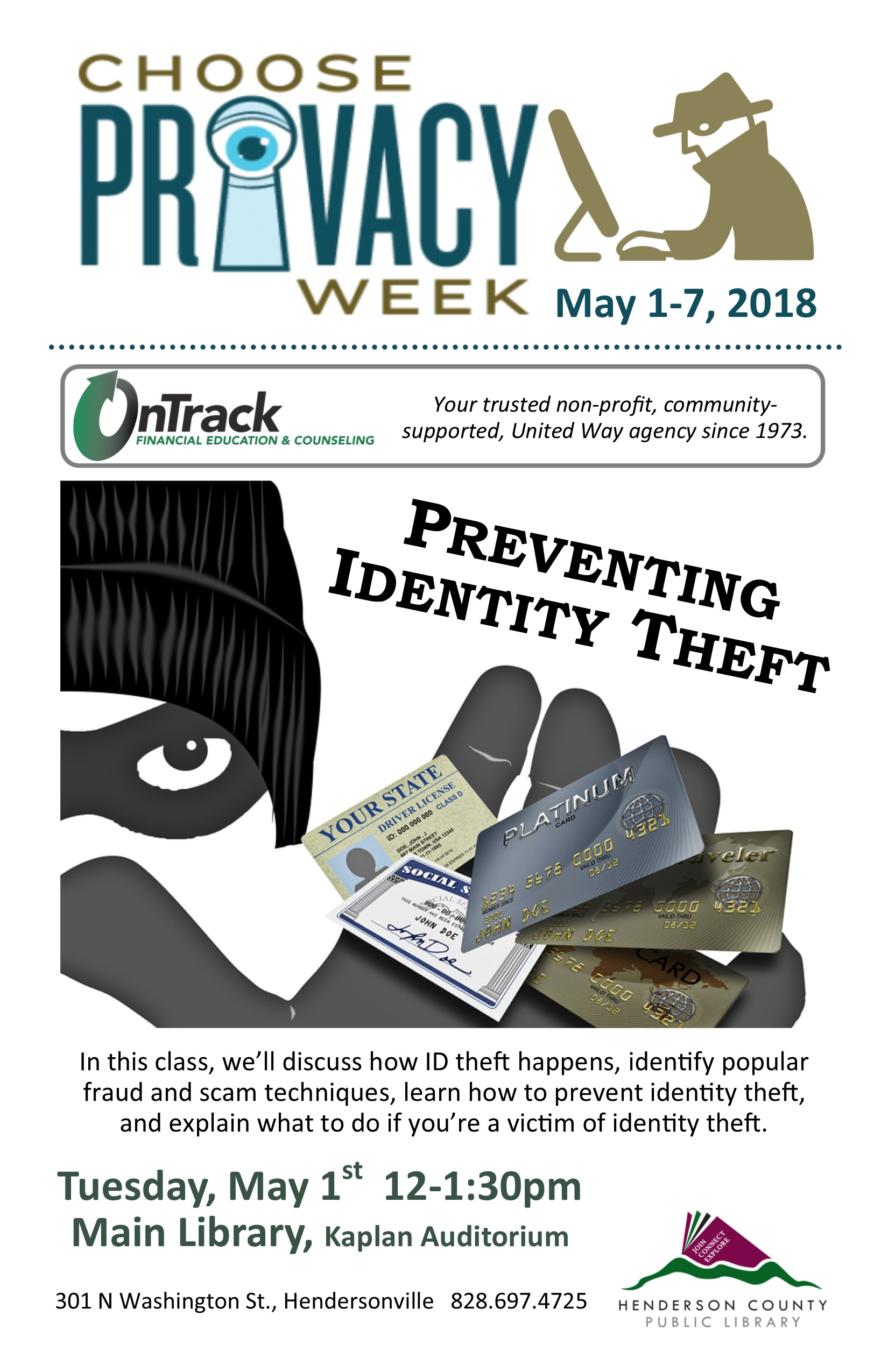 Preventing Identity Theft- Choose Privacy Week