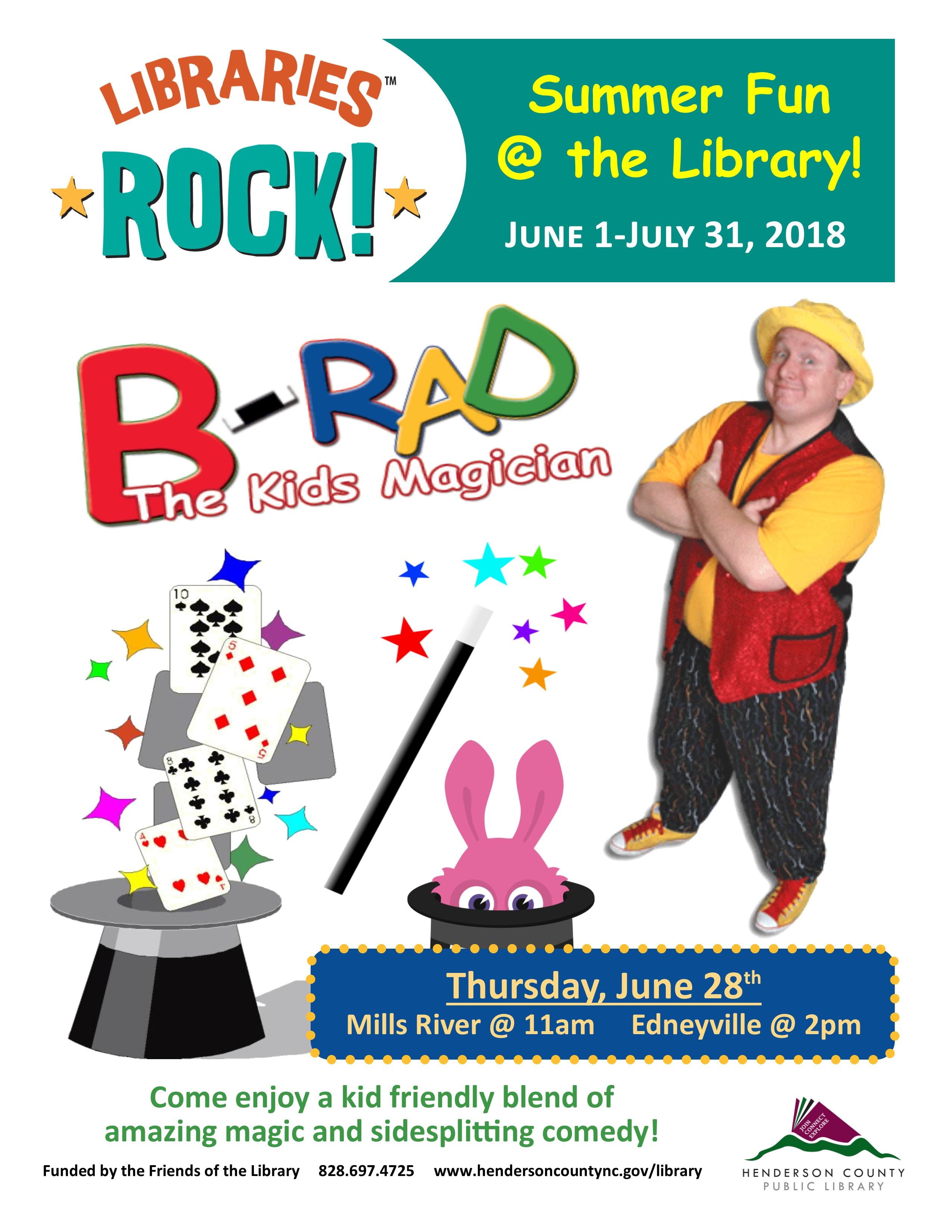 Libraries Rock with B-Rad the Kids Magician