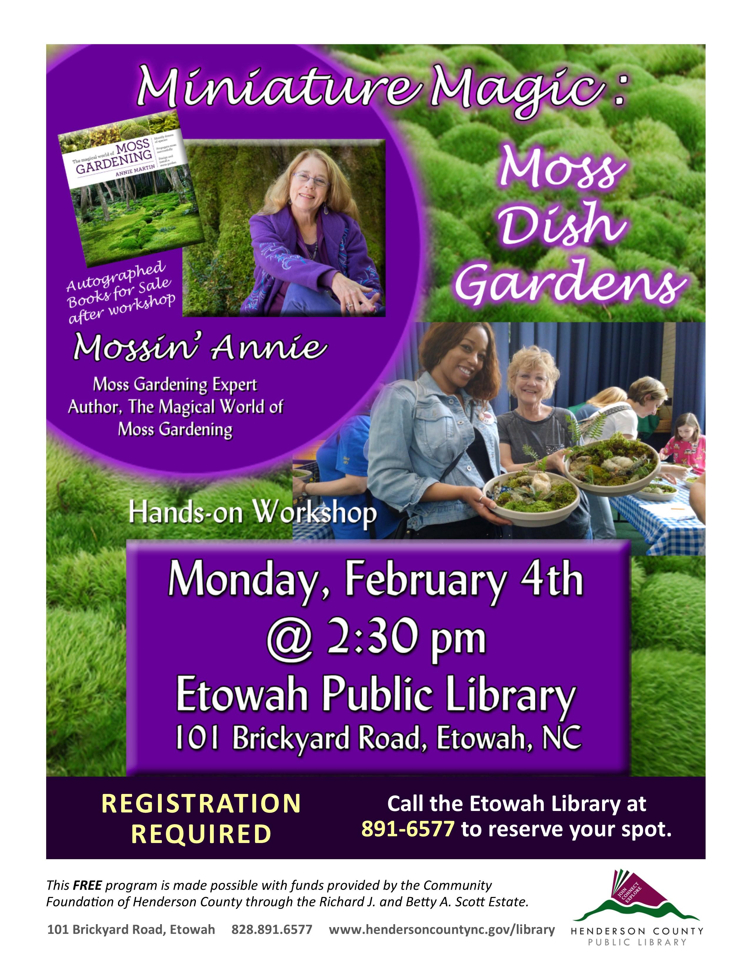 Miniature Magic: Moss Dish Gardens
