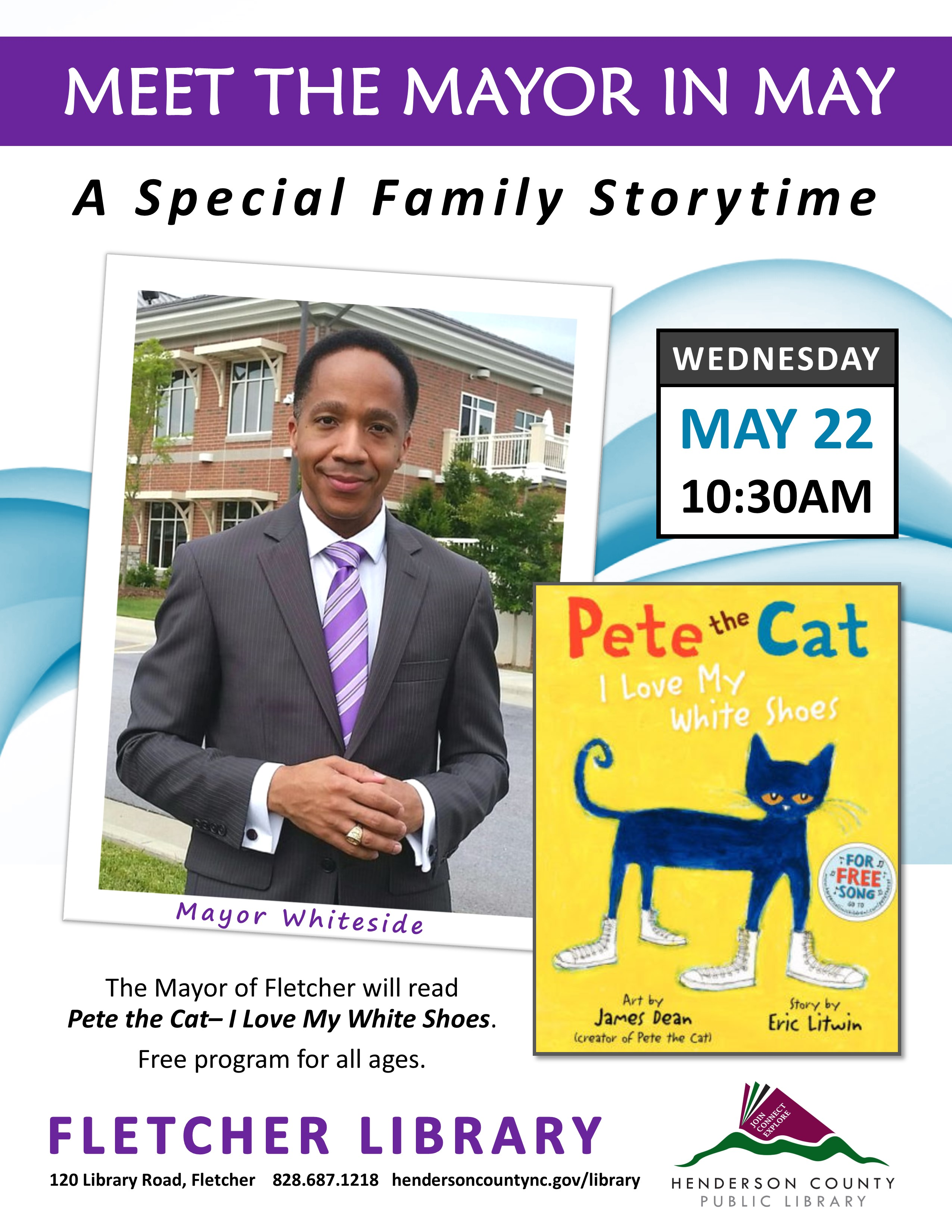 Fletcher Family Storytime- Meet the Mayor in May