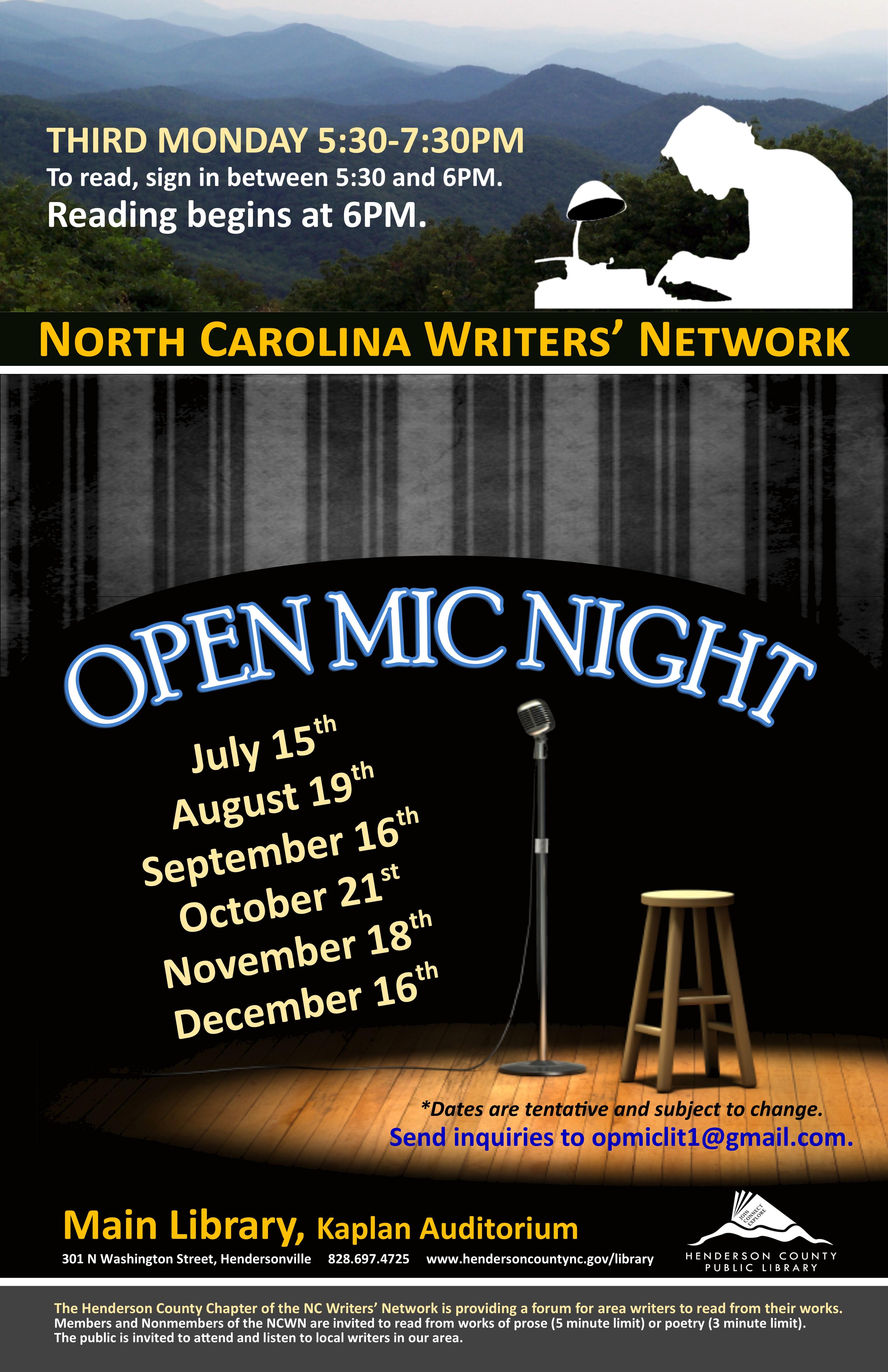 NCWN Open Mic Night