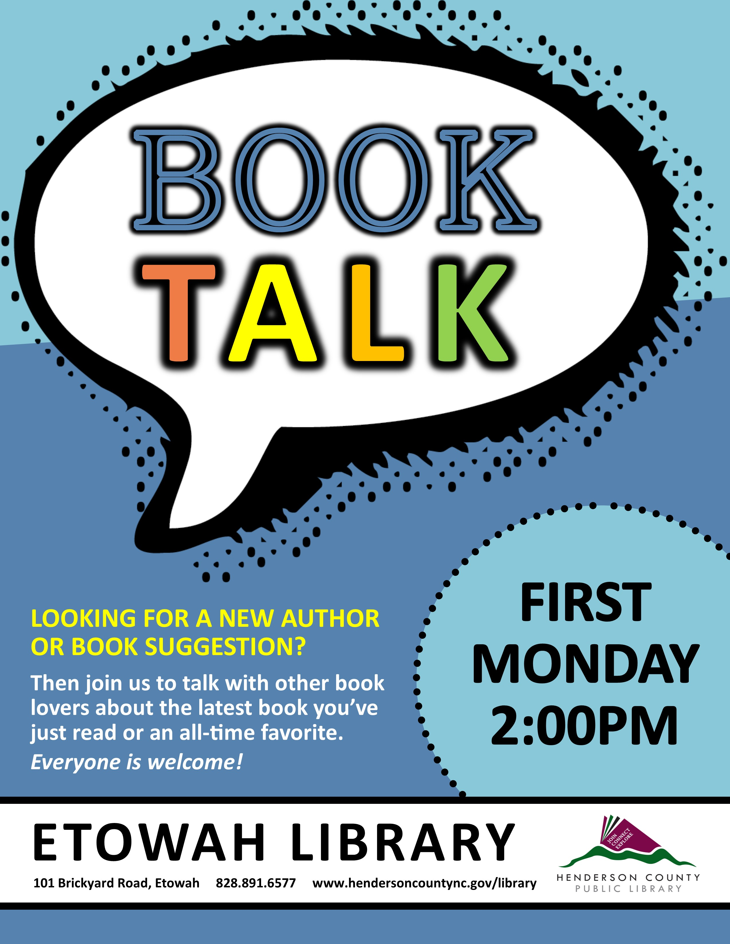 Book Talk at the Etowah Library