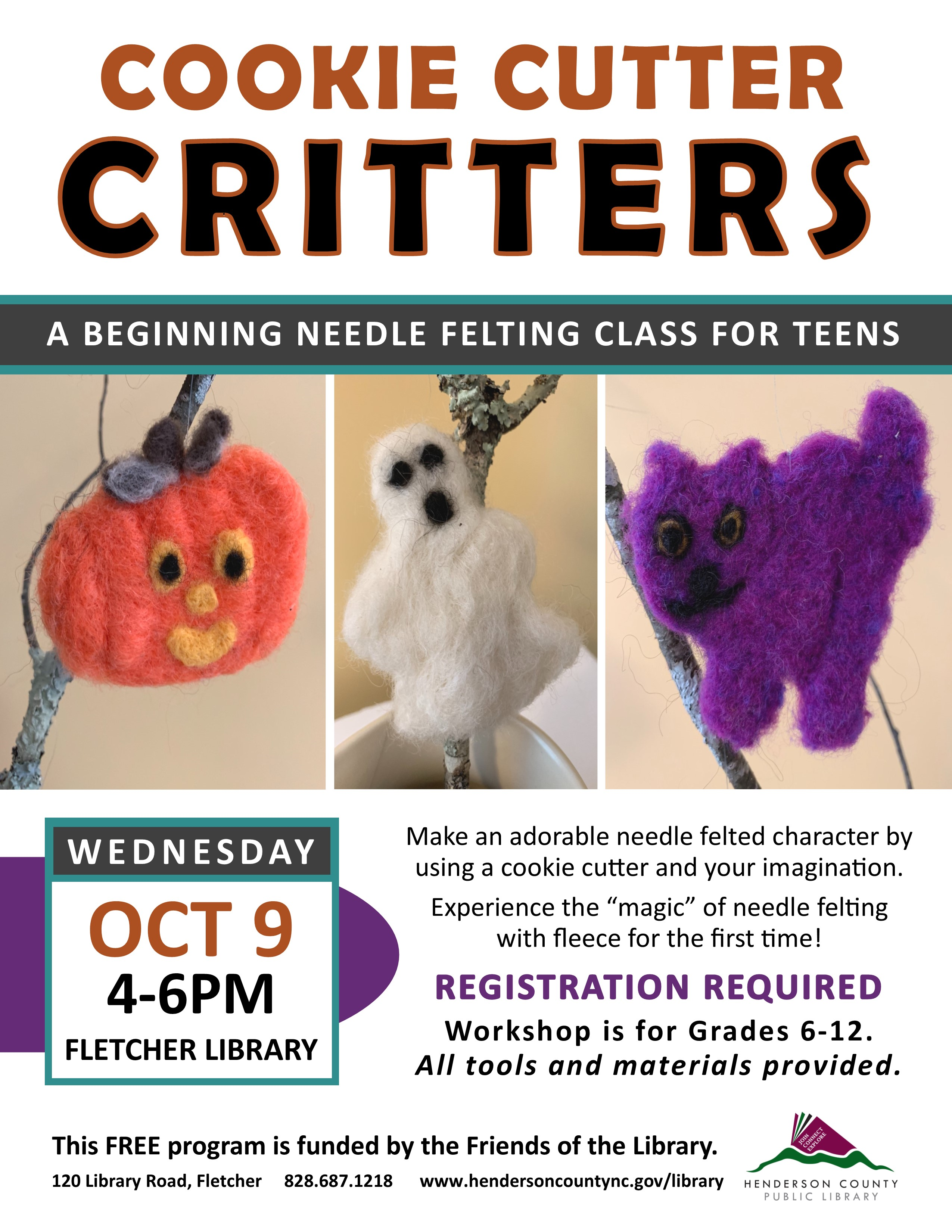 Cookie Cutter Critters: A Beginning Needle Felting Class