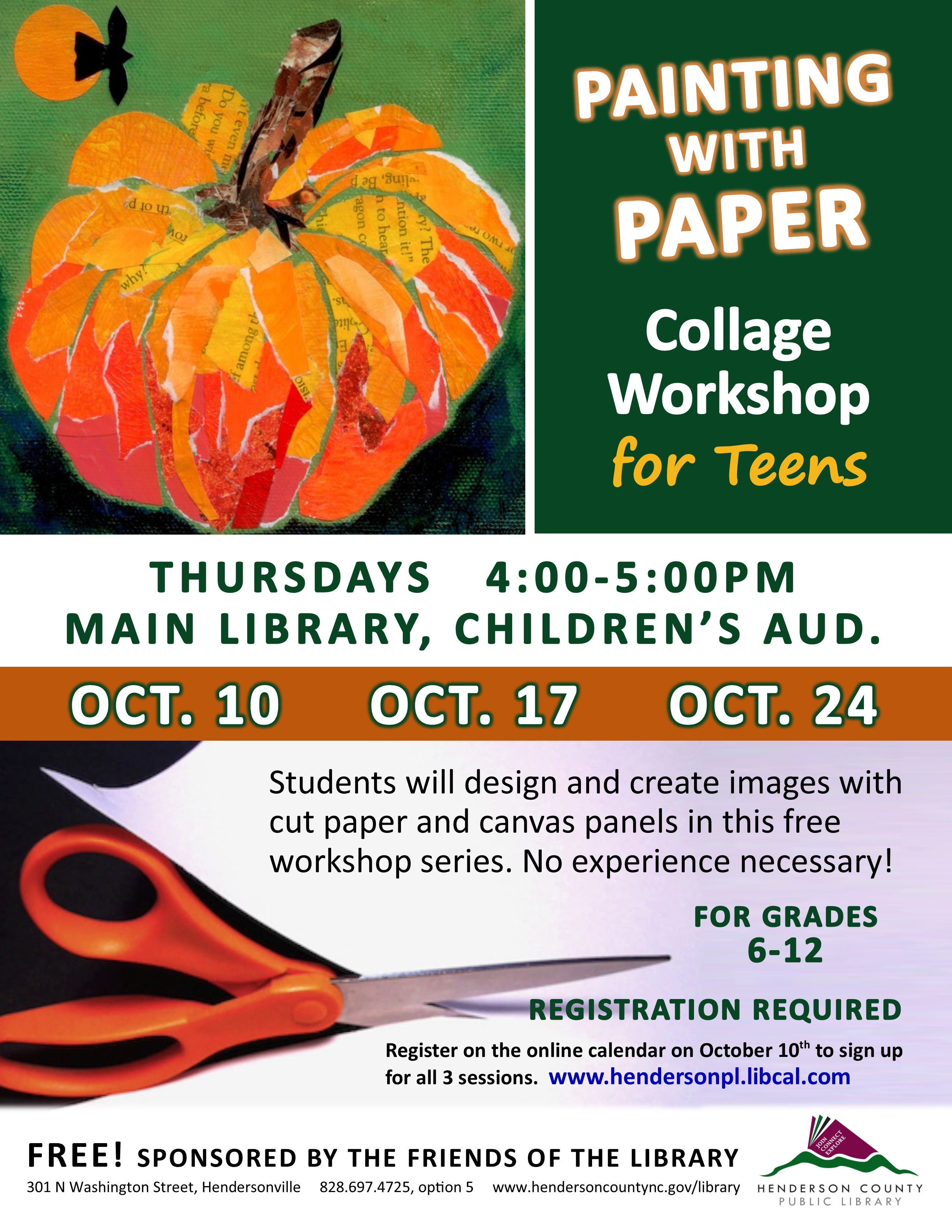 Collage Workshop for Teens-Painting With Paper