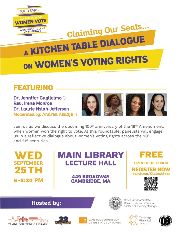 Claiming our Seats: A Kitchen Table Dialogue on Women's Voting Rights