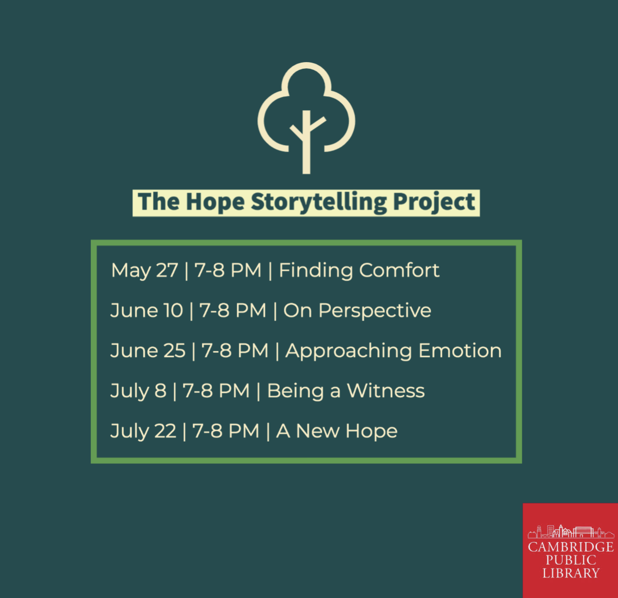 The Hope Storytelling Project: Finding Comfort