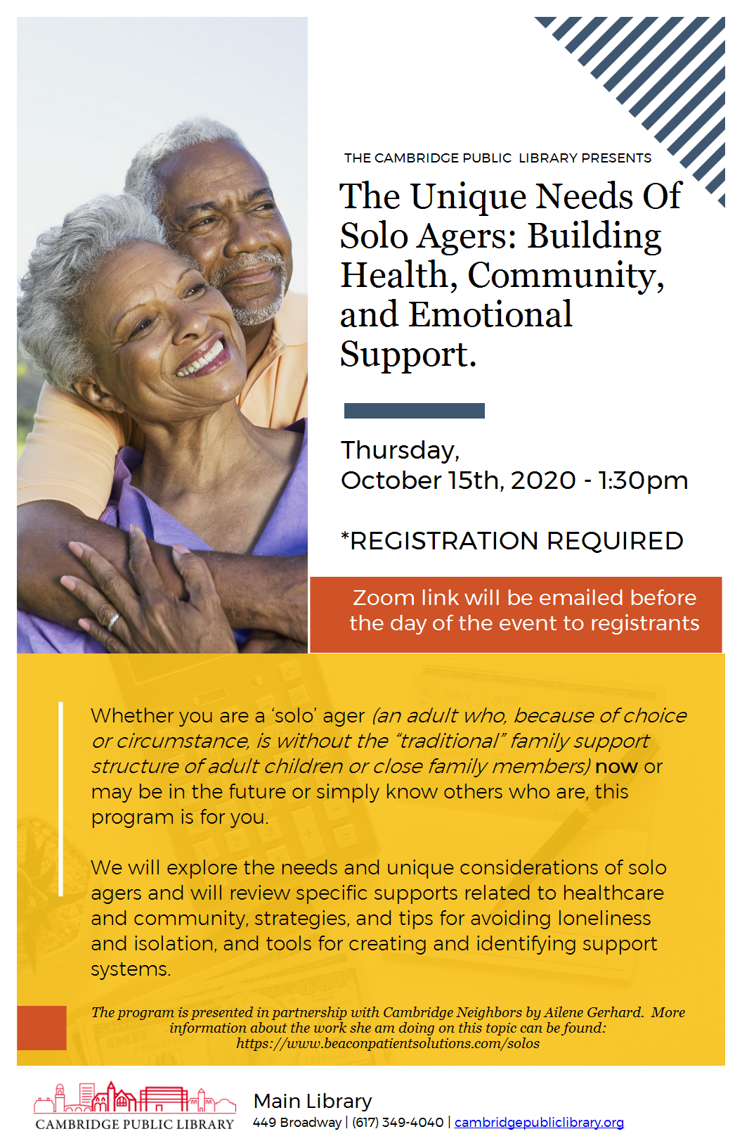 The Unique Needs Of Solo Agers: Building Health, Community, and Emotional Support