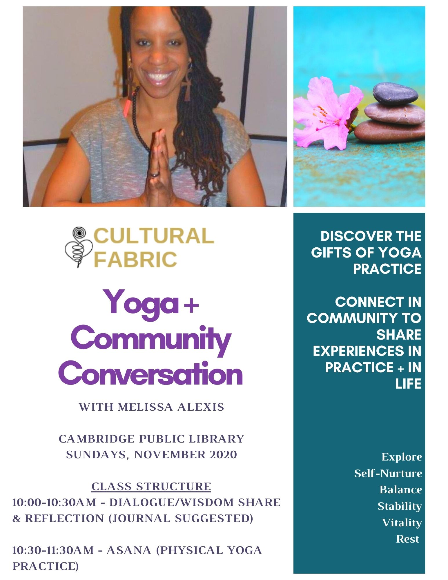 Community Yoga with Cultural Fabric