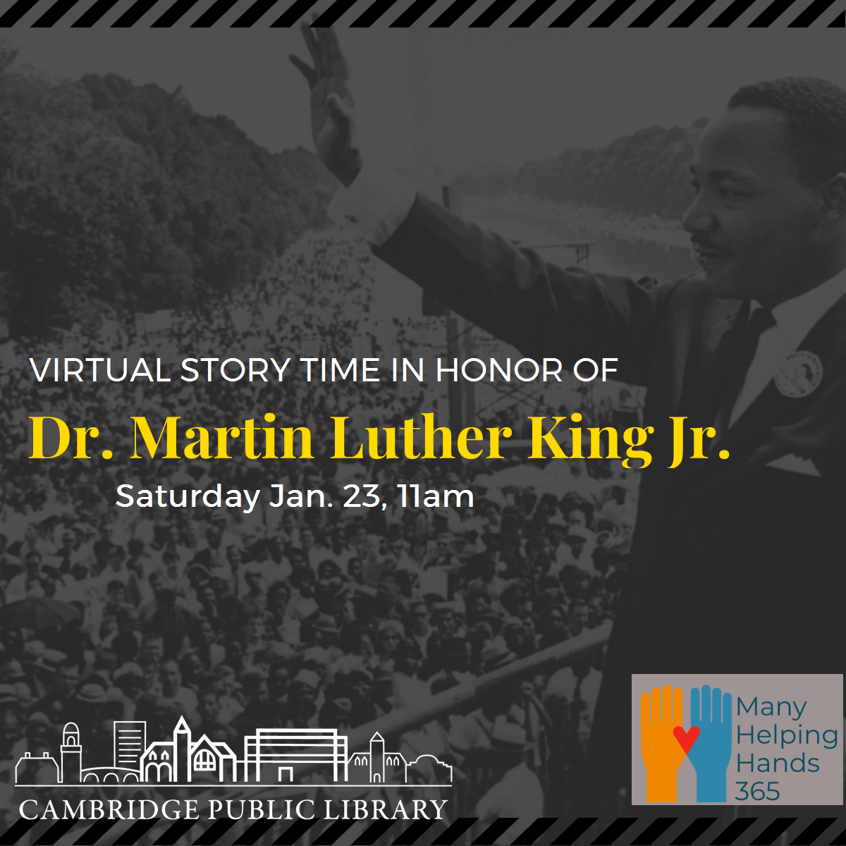 Virtual Story Time in honor of Dr. Martin Luther King Jr.
