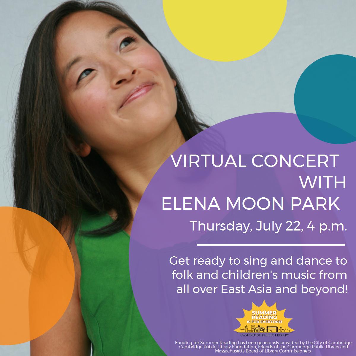 Summer Reading: Concert with Elena Moon Park (Virtual)