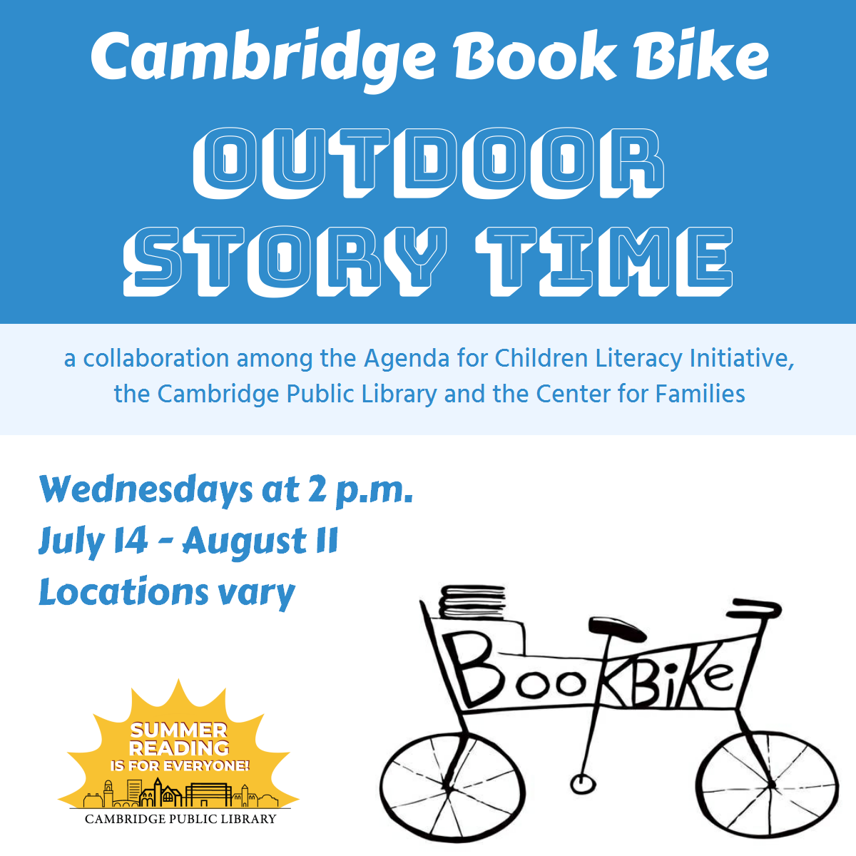 Cambridge Book Bike Story Time (O'Neill)