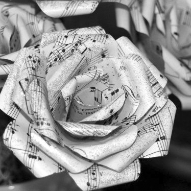 Crafternoons: Sheet Music Bouquet